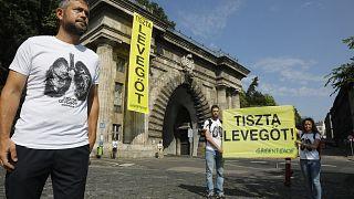 Az Alagútnál tartott akciót a Greenpeace