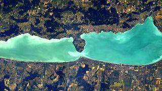 Thomas Pesquet fotója a Balatonról Nemzetközi Űrállomásról