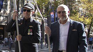 Egy korábbi demonstráció az afganisztáni misszió erőfeszítései előtt tisztelegve - Sydney, 2021 áprilisa