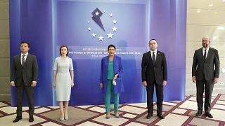 سه رهبر گرجستان، مولداوی و اوکراین به همراه شارل میشل در اجلاس باتومی