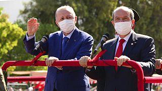 Cumhurbaşkanı Recep Tayyip Erdoğan ve KKTC Cumhurbaşkanı Ersin Tatar