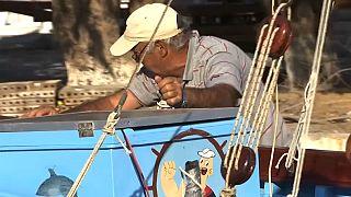 Últimos construtores de barcos tradicionais da Grécia