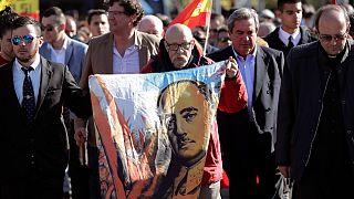 تصاویری از تجمع حامیان ژنرال فرانکو