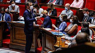 Olivier Véran devant les députés, mardi 20 juillet 2021