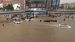 Наводнения в Китае.