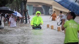 الصين-فيضانات