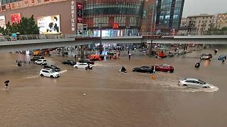 Çin'in orta kesimindeki Henan eyaletinde sel felaketi
