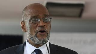 Ariel Henry speaks during his appointment as the new Prime Minister in Port-au-Prince, Haiti, July 20, 2021.