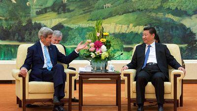 John Kerry meeting President Xi Jinping in 2015.