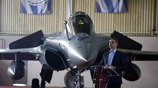 YUnanistan Başbakanı Kiryakos Miçotakis ile Rafale jetleri aynı karede.