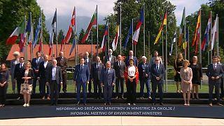Les ministres européens de l'Environnement, à Kranj (Slovénie), le 21 juillet 2021.