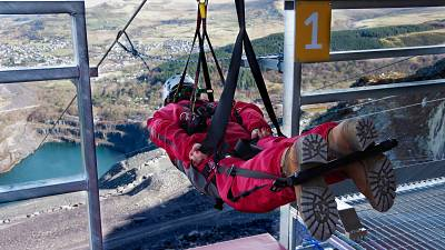 The world's first 4-person zipline in North Wales