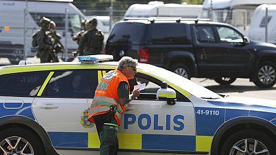 A large police operation is underway outside Hallby Prison near Eskilstuna, Sweden