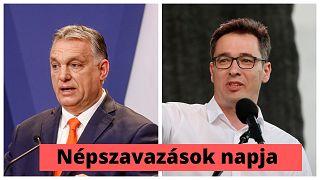 Orbán Viktor magyar miniszterelnök és Karácsony Gergely ellenzéki miniszterelnök-jelölt aspiráns, Budapest főpolgármestere