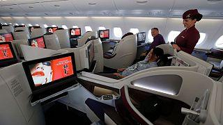 کلاس بیزینس ایرباس A380 هواپیمایی قطر