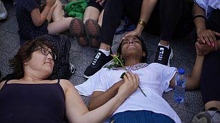Grève de la faim des sans-papiers à Bruxelles, 17 juillet 2021