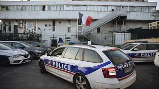 A police car arrives at the police station in the Paris suburb of Sarcelles, June, 15, 2021.