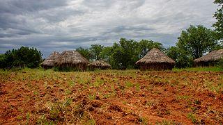 Aldeia de agricultores perto de Lubango, em Angola