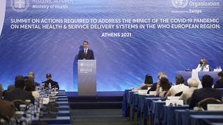 Ο Κυριάκος Μητσοτάκης μιλώντας στο διεθνές συνέδριο με θέμα «Οι συνέπειες της COVID-19 στην Ψυχική Υγεία και στα συστήματα παροχής υπηρεσιών υγείας»