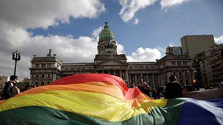 Arjantin'de eşcinsel evliliklerin tanınmasını destekleyenlerin gösterisi, 2010 / Arşiv