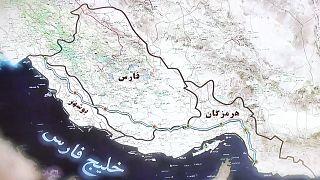 نقشه خط لوله انتقال نفت خام گوره-جاسک