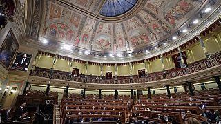 البرلمان الاسباني في مدريد بإسبانيا
