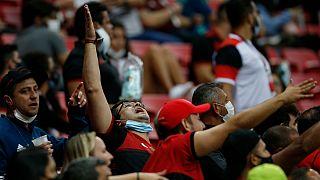Adeptos do Flamengo puderam voltar a festejar uma vitória num estádio