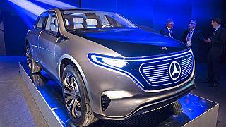 Mercedes'in yeni yüzde 100 elekrikli konset modeli Concept EQ.