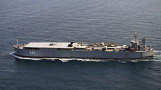 ناو متعلق به نیروی دریایی ایران