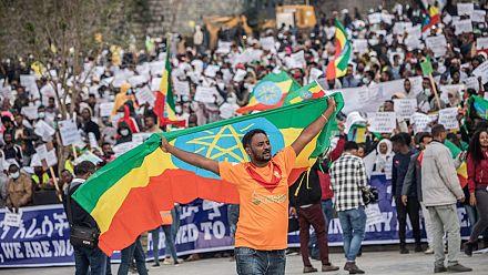 Rassemblement des partisans du gouvernement éthiopien