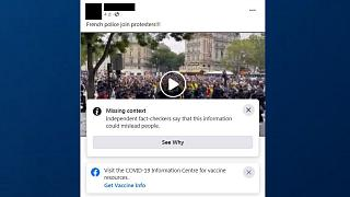 Facebook had labelled one video as misleading under their policy against COVID-19 misinformation.