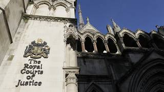 A view of the Royal Courts Of Justice, in London, Jan. 19, 2021.