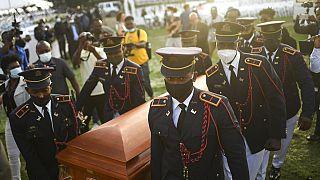 Funérailles du président haïtien assassiné Jovenel Moise à Cap-Haïtien,  en Haïti, vendredi 23 juillet 2021