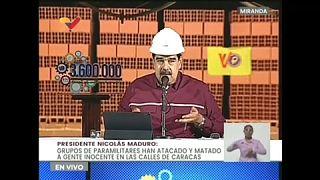 Captura de imagen de la declaración del presidente de Venezuela Nicolás Maduro