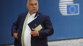 Hungarian Prime Minister Viktor Orban leaves at the end of an EU summit in Brussels on Friday, June 25, 2021.