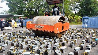 Einsatz gegen Krypto-Mining: Dampfwalze gegen Computer in Miri in Malaysia