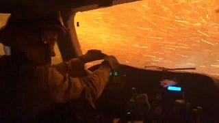 نظرة من داخل سيارة الإطفاء على جحيم حرائق كاليفورنيا
