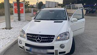 Türkiye-Yunanistan ve Balkan hattı üzerinde kaçakçıların kullandığı lüks araçlardan bir tanesi.