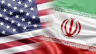 ABD / İran bayrakları