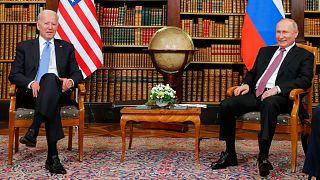 الرئيسان الروسي بوتين والأمريكي بايدن
