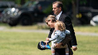 نجل الرئيس الأمريكي وزوجته