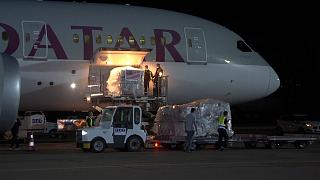 The Pfizer shipment arrives in Tbilisi