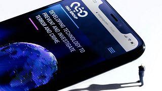 وبسایت شرکت اسرائیلی اناساو روی یک گوشی موبایل