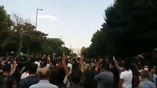 تصاویری که از تظاهرات روز شنبه در تبریز منتشر شده است