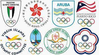 BM üyesi olmayan ülkelerin delegasyonlarının olimpiyat logoları