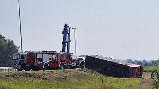 مقتل عشرة أشخاص في حادث اصطدام حافلة غلب النعاس سائقها في كرواتيا