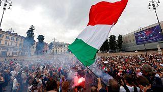 تظاهرات مخالفان الزامی شدن گذرنامه سلامت در رم