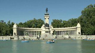El Parque del Retiro de Madrid, España 2021