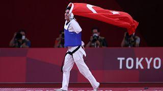 2020 Tokyo Olimpiyat Oyunları'nda tekvandoda bronz madalya kazanan milli sporcu Hakan Reçber