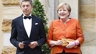 Angela Merkel und Joachim Sauer in Bayreuth
